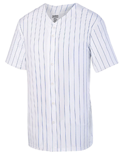 Unisex Pin Stripe Full Button Baseball Jersey