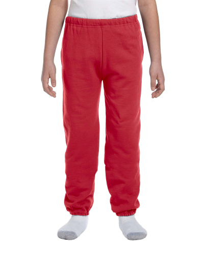 Youth 9.5 oz., 50/50 Super Sweats® NuBlend Fleece Pocketed Sweatpants