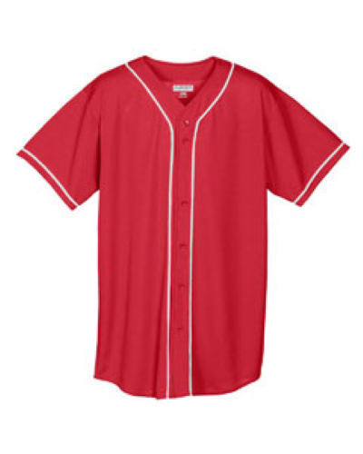 Wicking Mesh Braided Trim Baseball Jersey