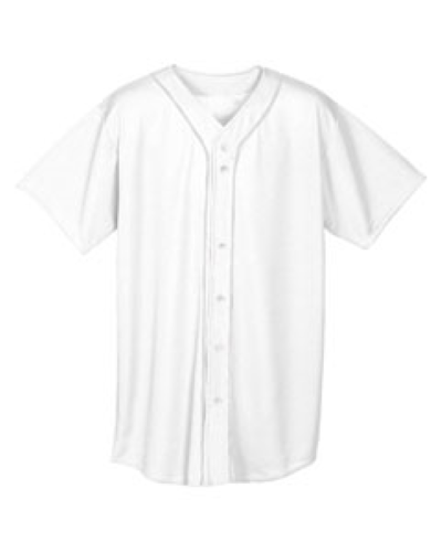 Short Sleeve Full Button Baseball Top