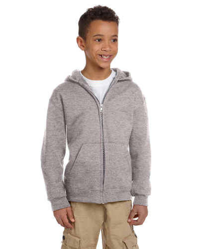 Youth 9 oz. Double Dry Eco Full-Zip Hood