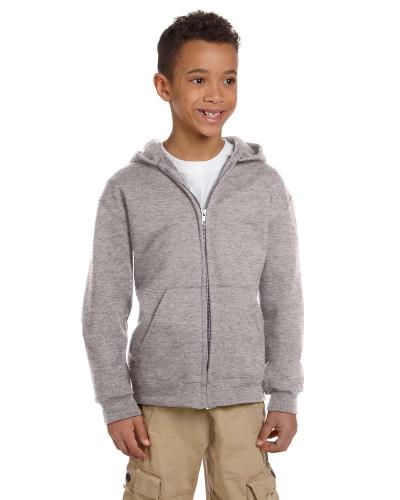 Youth 9 oz. Double Dry Eco Full-Zip Hood