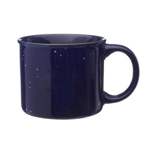 13 oz. Happy Camper Ceramic Coffee Mug w/ 1 Color Imprint