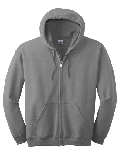 Heavy Full-Zip Hooded Sweatshirt