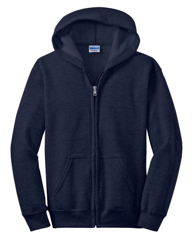 Youth Hea-vy Blend Full-Zip Hooded Sweatshirt