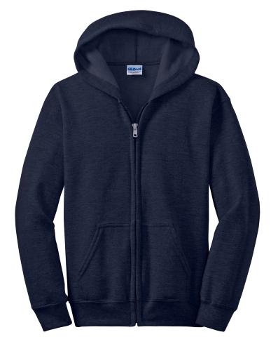 Youth Hea-vy Blend Full-Zip Hooded Sweatshirt