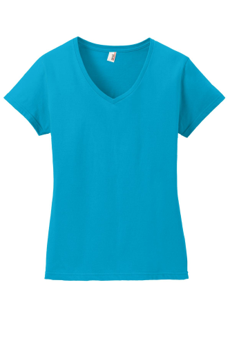 Anvil Ladies 100% Ring Spun Cotton V-Neck T-Shirt