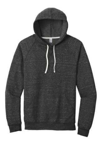 Snow Heather French Terry Raglan Hoodie
