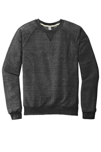 Snow Heather French Terry Raglan Crew