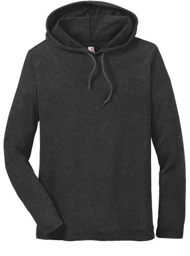 Anvil 100% Ring Spun Cotton Long Sleeve Hooded T-Shirt