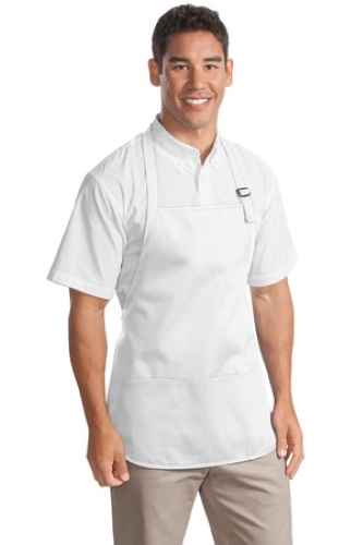 Medium Length Apron with Pouch Pockets