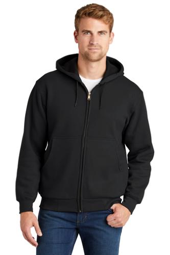 CornerStone Heavyweight Full-Zip Hooded Sweatshirt with Thermal Lining