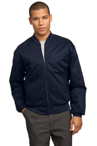Team Style Jacket with Slash Pockets
