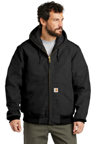 Carhartt Tall Quilted-Flannel-Lined Duck Active Jac