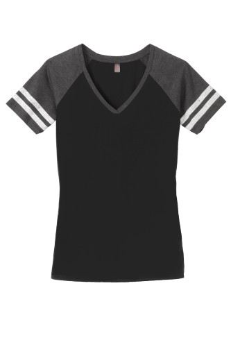 District Made Ladies Game V-Neck Tee