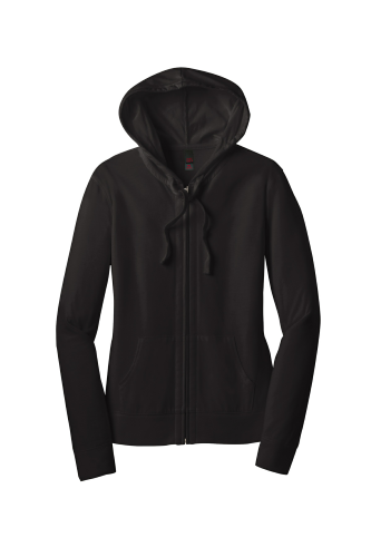 Juniors Lightweight Jersey Full-Zip Hoodie