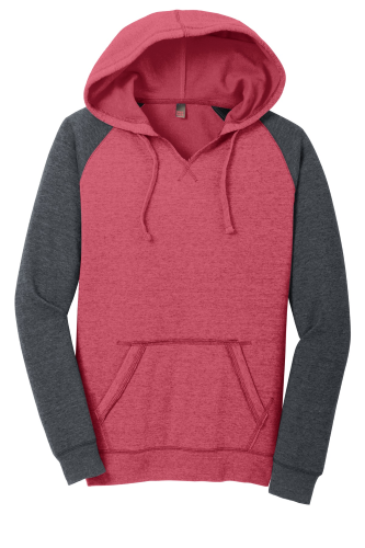 District Juniors Lightweight Fleece Raglan Hoodie