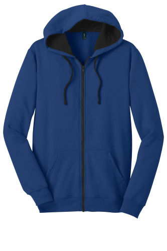 District Young Mens The Concert Fleece Full-Zip Hoodie