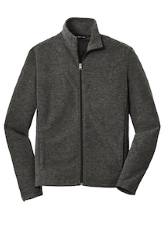 Heather Microfleece Full-Zip Jacket