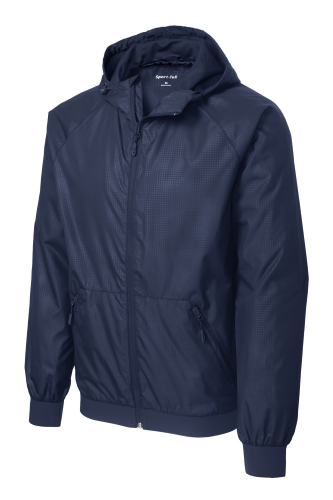 Sport-Tek Embossed Hooded Wind Jacket