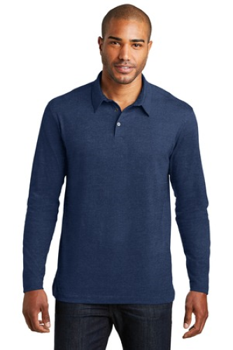 Long Sleeve Meridian Cotton Blend Polo