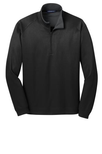 Heavyweight Vertical Texture 1/4-Zip Pullover