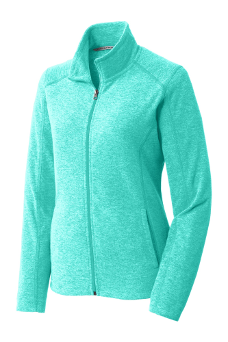 Ladies Heather Microfleece Full-Zip Jacket