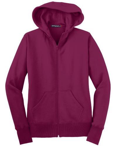 Ladies Full-Zip Hooded Fleece Jacket
