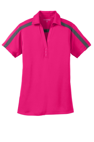 Ladies Silk Touch Performance Colorblock Stripe Polo