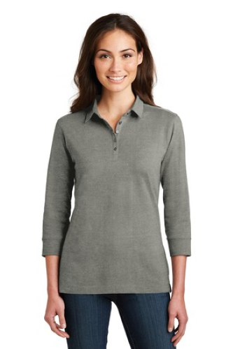 Port Authority Ladies 3/4-Sleeve Meridian Cotton Blend Polo