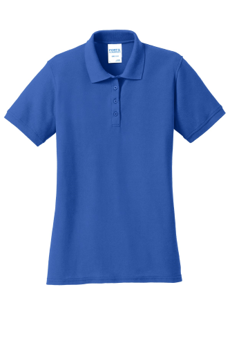 Port & Company Ladies 50/50 Pique Polo