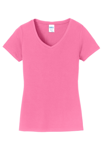 Port & Company Ladies Fan Favorite V-Neck Tee