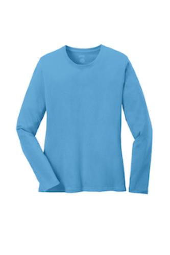 Port & Company Ladies Long Sleeve 5.4-oz 100% Cotton T-Shirt