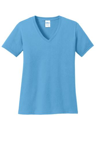 Port & Company Ladies 5.4-oz 100% Cotton V-Neck T-Shirt