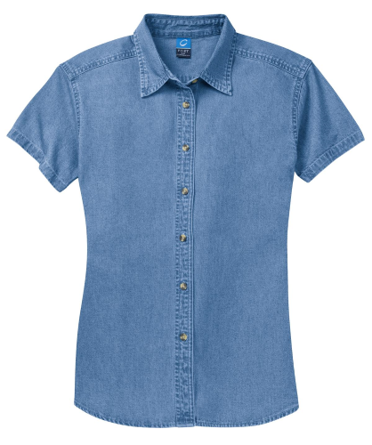 Port & Company Ladies Short Sleeve Value Denim Shirt