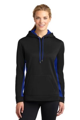 Ladies Sport-Wick Fleece Colorblock Hooded Pullover