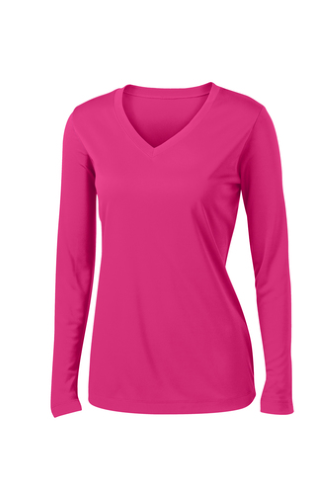 Ladies Long Sleeve V-Neck Competitor Tee