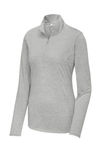 Ladies PosiCharge Tri-Blend Wicking 1/4-Zip Pullover