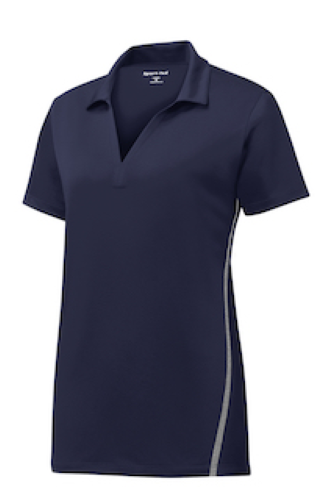 Ladies Contrast PosiCharge Tough Polo