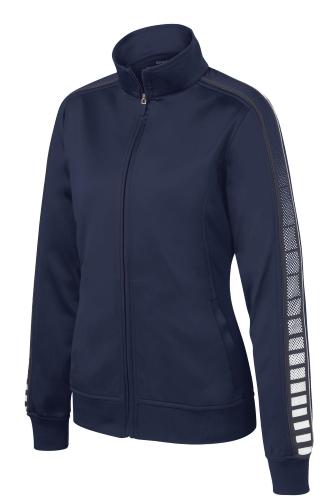 Ladies Dot Sublimation Tricot Track Jacket