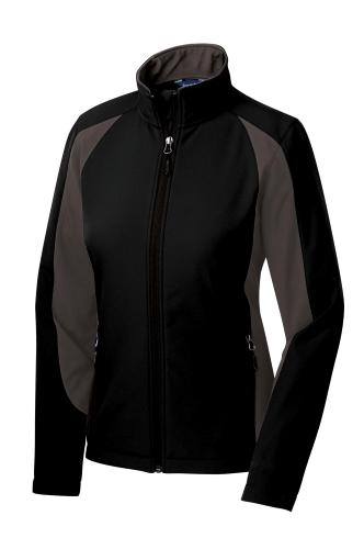 Ladies Colorblock Soft Shell Jacket