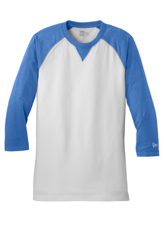 Sueded Cotton 3/4-Sleeve Baseball Raglan Tee
