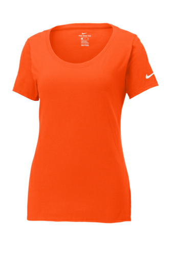Ladies Core Cotton Scoop Neck Tee