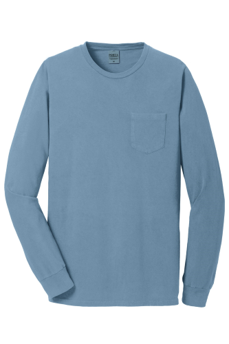 Port & Company Essential Pigment-Dyed Long Sleeve Pocket Tee