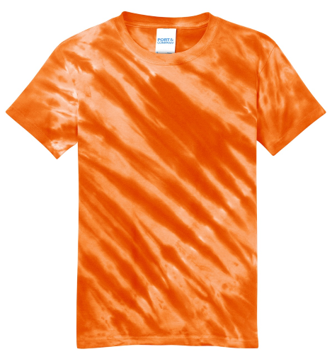 Port & Company Youth Essential Tiger Stripe Tie-Dye Tee