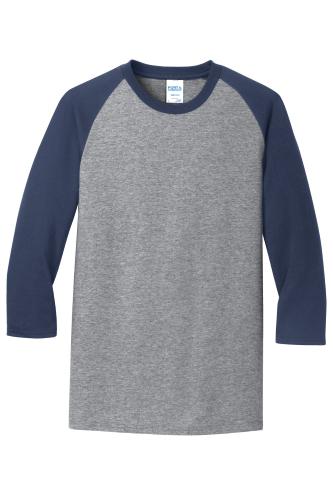50/50 Cotton/Poly 3/4-Sleeve Raglan T-Shirt