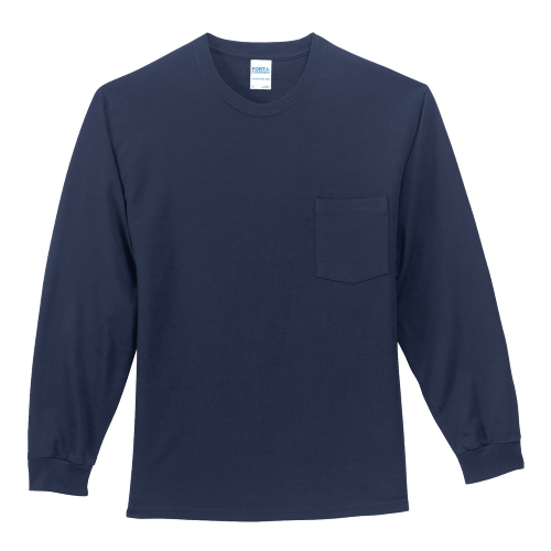 Port & Company Long Sleeve Essential T-Shirt with Pocket