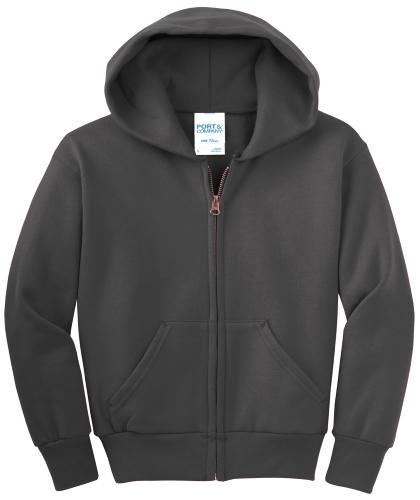Youth Full-Zip Hooded Sweatshirt