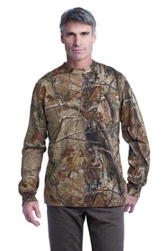 Russell Outdoors ™ Realtree Long Sleeve Explorer 100% Cotton T-Shirt with Pocket