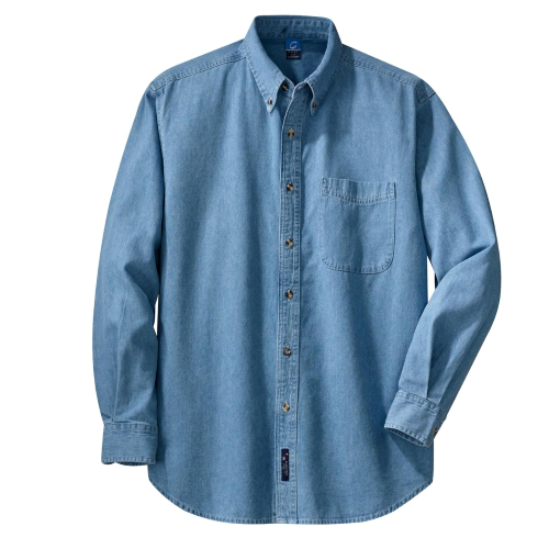 Port & Company Long Sleeve Value Denim Shirt